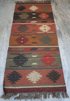Vintage Turkish Rug Runner,2.5x6 Feet Carpet Runner,Kilim Runner Wool Jute Kilim #Turkish