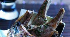 Lamb Chops with Rosemary and Anchovy Butter, serve with a courgette and carrot salad.