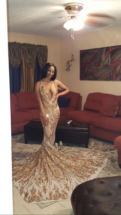 sparkling patterned gold sequin plunging V neck fit and flare prom dress Sequin Prom Dresses, Best Prom Dresses, Elegant Prom Dresses, Long Prom Gowns, Cheap Prom Dresses, Formal Evening Dresses, Ball Dresses, Homecoming Dresses, Long Dresses