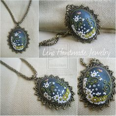 Polymer clay jewelry - Lena Handmade Jewelry Pendate My facebook page: https://www.facebook.com/pages/Lena-Handmade-Jewelry/675974519096025