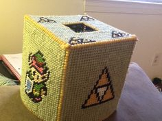 Zelda tissue box I made for a friend