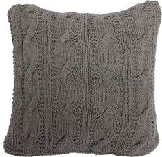 The Marina Toss Cushion - Dark Taupe from Urban Barn