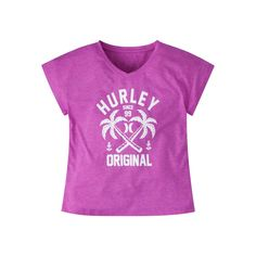 Girls 7-16 Hurley Permanent Vacation Knit Tee, Girl's, Size: Large, Med Pink