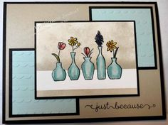 Vivid Vases – Stampin' Up! Card created by Michelle Zindorf