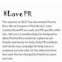 We are looking for help to send a pallet of water to Puerto Rico. No fees taken.  Lovepr.org #LovePR  http://ift.tt/2hzo6R5