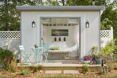 """This """"she shed's"""" design is known as the """"yoga studio."""""""