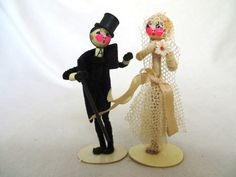 Rare 1920s Wedding Cake Topper