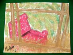 Walking through the streets of Helensburgh, Scotland, I came across the old chair lying against a dilapidated old fence.  It seemed completely out of place in its immaculate setting and made a strong emotional appeal on my senses.  I snapped a quick picture and went home to paint it.  Soft pastel on paper.  272 x 354 mm. Old Fences, Small Towns, Still Life, Good Times, Scotland, Old Things, Walking, Pastel, Yard