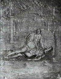 Napoli, Museo Nazionale, inv. n. 111483, proveniente dalla casa di Pompei IX 5, 14, parete sud del triclinio