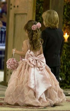 Beautiful bow sash for flower girl dress