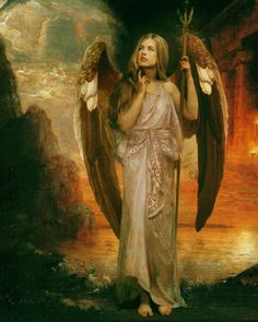 The Messenger--Angel Art and a brief introduction to Angelology; New Pictures of Angels by Howard David Johnson featuring oil paintings,   prismacolors and digital media.