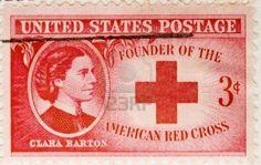 Se trata de una cosecha 1943 EE.UU. cancela sello Clara Barton Cruz Roja Americana  Foto de archivo - 3526406