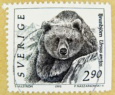 stamp Sverige 2.90 Kr postage Ursus arctos bear frimärken frímerki Svíþjóð طوابع السويد timbre Suède スタンプ スウェーデン postimerkkejä Ruotsi แสตมป์ สวีเดน bélyegek Svédország francobolli svezia марки Швеция 邮票 瑞典 by stampolina, via Flickr