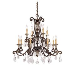 Astoria Grand Fairgrove 12 Light Crystal Chandelier