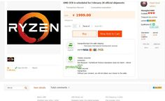 AMD Ryzen R7 1800X: 8C/16T CPU for $649?: AMD Ryzen R7 1800X: 8C/16T CPU for $649?:…