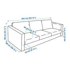 VIMLE Sofa, Gunnared medium gray Gunnared medium gray