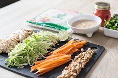 Klar parat start Vietnamesiske forårsruller med sød chili og peanutsauce