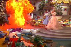 The Wizard of Oz (1939)...little known fact....the witch was severely burned during this scene and rushed to the hospital.