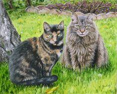 peinture de chats | Portrait à l'huile