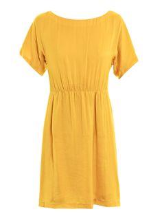Stunning yellow silk dress by Rag & bone!