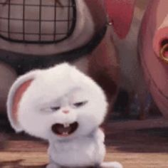 The perfect Laughing Rabbit Animated GIF for your conversation. Discover and Share the best GIFs on Tenor. Cute Bunny Cartoon, Love Is Cartoon, Kawaii Bunny, Cute Cartoon Pictures, Cartoon Pics, Cute Disney Drawings, Cute Drawings, Snowball Rabbit, Gif Mignon