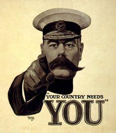 Your Country Needs You British Propaganda poster WW1 http://i3.squidoocdn.com/resize/squidoo_images/590/draft_lens18367487module152601228photo_1314019811YourCountryNeedsYou.jpg