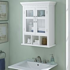 10 tips for designing a small bathroom sea cove cottage bathrooms rh pinterest com White Bathroom Wall Cabinet with Drawer White Wood Bathroom Wall Cabinets