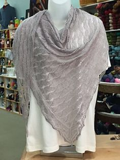 This 10/2 Carolina Cascade Shawl is a lighter weight version of the Carolina Cascade Tencel Shawl which was knit with 5/2 Tencel. The 10/2 shawl is knit following the directions for the Carolina Cascade Shawl, but the difference is the needle size and the number of repeats that are required to obtain the same size as the original Carolina Cascade Shawl.