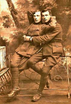 Homo History: Hugs and Kisses, Vintage Gay Couples