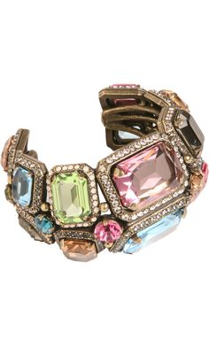 $2290.  Lanvin Strass & Crystal Tutti Frutti Cuff. Barneys NewYork.  But, I need this 'cause it goes with so many things!