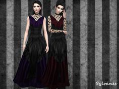 Gothic lace gown_2versions_ts4 http://lunenore.tumblr.com/post/133468055666/gothic-lace-gown2versionsts4