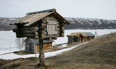 An old Sami 'nili' – a food storage hut raised above ground out of the reach of animals. What the Sami people can teach us about adapting to climate change. Indigenous Knowledge, Kola Peninsula, Industrial Development, Lappland, Climate Change Effects, Arctic Circle, Rest Of The World, Global Warming, Ecology