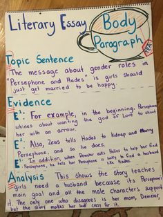 body paragraphs argumentative essay my anchor charts  mnemonic device and visual to help students remember the structure for a complete body paragraph for