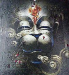 Hanuman Hanuman Tattoo, Hanuman Chalisa, Mahakal Shiva, Shiva Statue, Lord Hanuman Wallpapers, Hanuman Images, Cow Painting, Indian Folk Art, Cow Art