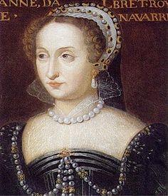 Jeanne d'Albret, reine de Navarre from altesse.eu