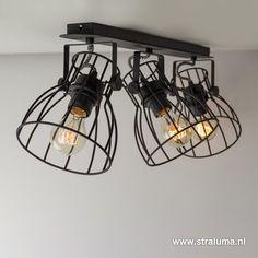 Industriële spot-plafondlamp draad - www.straluma.nl