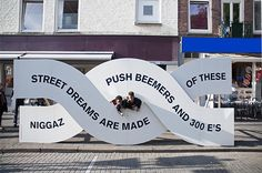 Graphic Design: Studio Spass take over the streets of Rotterdam for arts festival identity Environmental Graphic Design, Environmental Graphics, Wayfinding Signage, Signage Design, Navigation Design, Web Design, Urban Design, Exhibition Display, Instructional Design