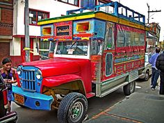 Chiva, tourist bus in Colombia