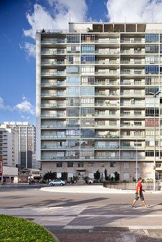 Gibraltar Building at Av. Paulista x Rua da Consolação, São Paulo, Brazil. Designed by Giancarlo Palanti. 1952.
