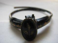 Victorian Black Enamel Mourning Bracelet