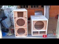 MEMBUAT BOX MINI SCOOP 15 INCH - YouTube 15 Inch Subwoofer Box, Subwoofer Box Design, Hifi Amplifier, Woofer Speaker, Electrical Symbols, Speaker Plans, Speaker Design, Electronics Projects, Make It Yourself