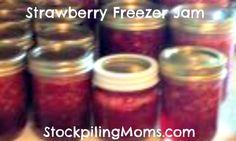 How to make strawberry #freezer jam  http://www.stockpilingmoms.com/2012/06/how-to-make-strawberry-freezer-jam/