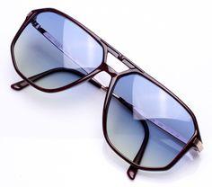 Vintage Frames Richardson 020R Blue Yellow Gradient Tony Stark Sunglasses, Types Of Sunglasses, Sunglasses Shop, Men Sunglasses Fashion, Mens Glasses Frames, Eyeglass Frames For Men, Eyewear Trends, H Design, Vintage Frames