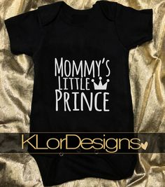 Baby Boy Onesie Mommy's Little Prince baby shower by KLorDesigns
