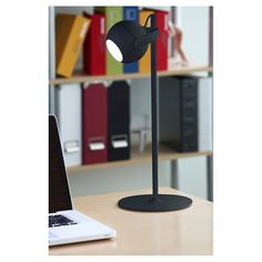 Never lose focus on the task at hand with the Lumisource Metal LED Focus Table Lamp in Black. This terrific little task lamp features a bright LED bulb that easily illuminates the day's projects. The matte black finish gives it a cool, modern feel—while the unique globe shape of the lamp head makes working just a little more fun. The touch activated push button makes for easy on and off.