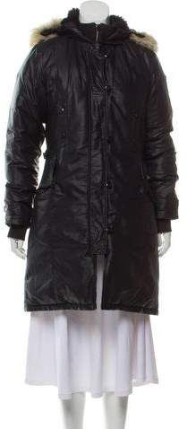 FSSE Men Plus Size Faux Fur Lined Thicken Hoodie Down Quilted Coat Jacket Outwear