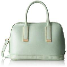 Ivanka Trump Amanda Dome IT1703 Shoulder Bag (€155) ❤ liked on Polyvore featuring bags, handbags, shoulder bags, shoulder bag handbag, ivanka trump, green shoulder bag, green purse and shoulder hand bags