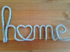 Home - tricotin Crochet Cross, Crochet Home, Knit Crochet, Twine Crafts, Rope Crafts, Magazine Deco, Spool Knitting, Loom Craft, Wool Shop
