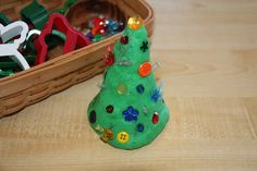 Counting Coconuts: December Sensory Tub & Playdough - Christmas