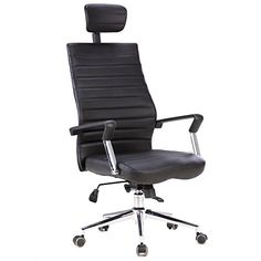 X Office Executive PU Leather Office Swivel Chairs,Black Desk Chair With  High Back Black And Adjustable Headrest,Reclining Accent Chair With Tilt  Lock ...